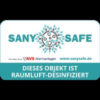SANY SAFE Aufkleber