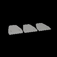 Distanzstücke Aufbaugehäuse EasyLock, weißaluminium