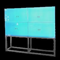 """SAFIRE Video Wall Bodenständer für 4 x 55"""" Monitore – VW-FBRACKET-55-2X2"""
